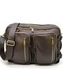 Фотография Коричневая кожаная мужская сумка трансформер Tarwa GC-7014-3md