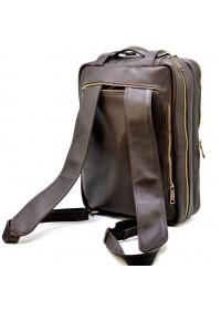 Коричневая кожаная мужская сумка трансформер Tarwa GC-7014-3md