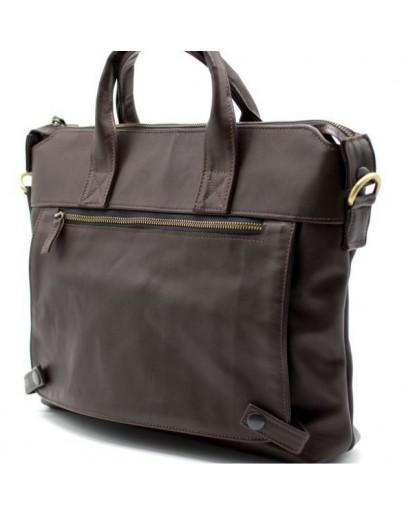 Фотография Коричневая мужская кожаная сумка для документов Tarwa GC-7120-2md