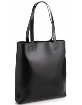 Женская кожаная черная сумка GR-2002A