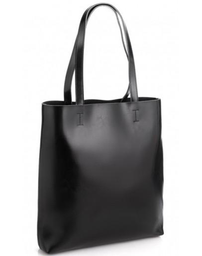 Фотография Женская кожаная черная сумка GR-2002A
