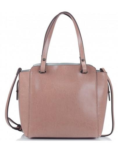 Фотография Кожаная женская розовая сумка Grays GR-6689LP