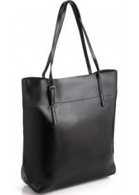 Черная деловая вертикальная женская сумка GR-8098A