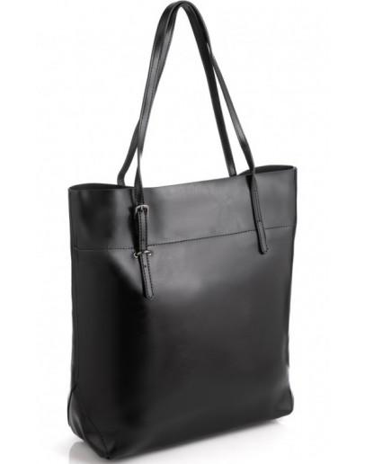 Фотография Черная деловая вертикальная женская сумка GR-8098A