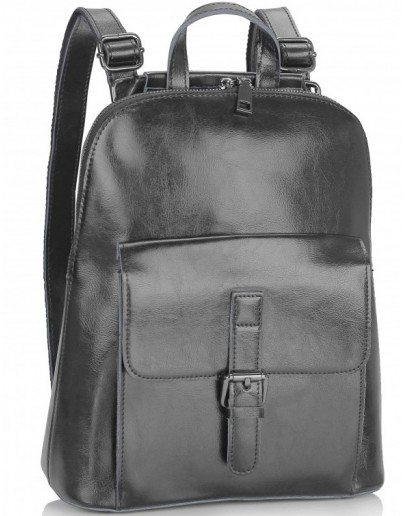 Фотография Черный женский кожаный рюкзак GR-830A-BP