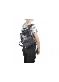 Черный женский кожаный рюкзак GR-830A-BP