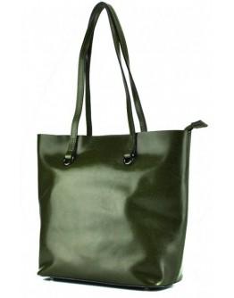 Кожаная зеленая женская сумка Grays GR-832GR