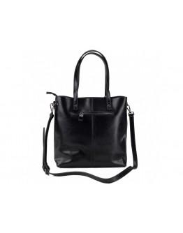 Черная женская кожаная сумка Grays GR-8870A