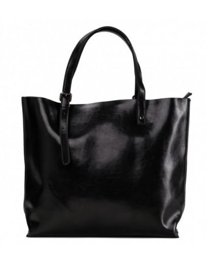 Фотография Женская черная кожаная сумка GR-2011A