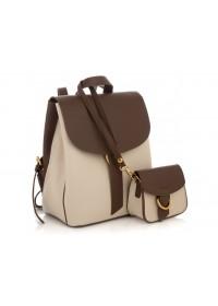 Женский кожаный небольшой рюкзак Grays GR3-1302BG-BP