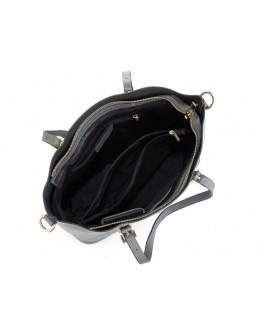 Женская кожаная серая сумка Grays GR3-173LBL