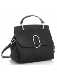 Черная женская сумка кожаная Grays GR3-6239A