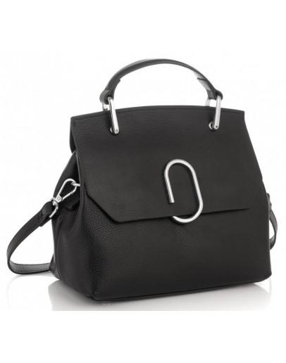 Фотография Черная женская сумка кожаная Grays GR3-6239A