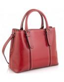Фотография Женская красная кожаная сумка Grays GR3-8501R