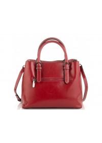 Женская красная кожаная сумка Grays GR3-8501R