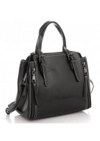 Черная кожаная женская сумка Grays GR3-8973A