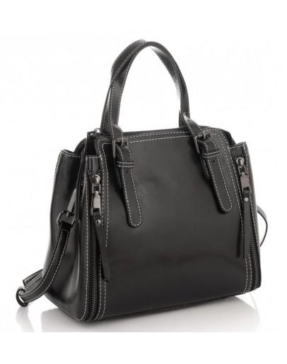 Фотография Черная кожаная женская сумка Grays GR3-8973A