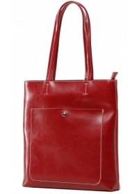Женская красная кожаная сумка Grays GR3-9029R