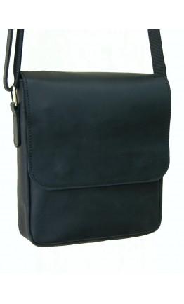 Мужская черная кожаная сумка через плечо 71300-SGE