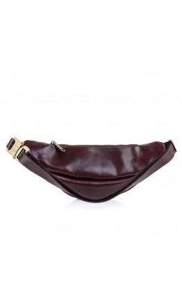 Коричневая кожаная мужская сумка на пояс Tarwa GX-3035-4lx