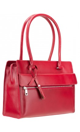 Женская красная кожаная сумка Visconti ITL78 (Red)
