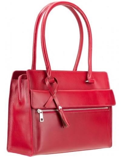 Фотография Женская красная кожаная сумка Visconti ITL78 (Red)
