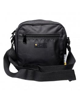 Черная сумка на плечо из нейлона JCB 20S Black