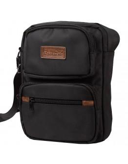 Черная мужская тканевая сумка на плечо JCB Borderline 32 Black