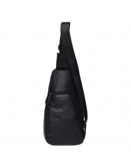 Черный кожаный мужской рюкзак Keizer K11023-black