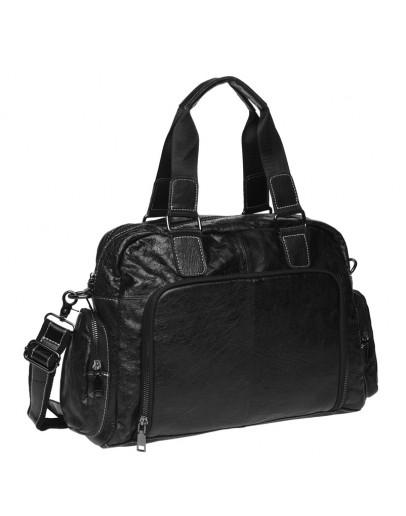 Фотография Кожаная черная мужская сумка Keizer K11028-black