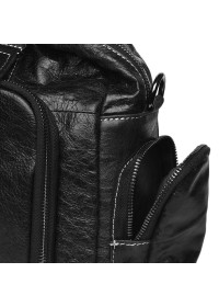 Кожаная черная мужская сумка Keizer K11028-black