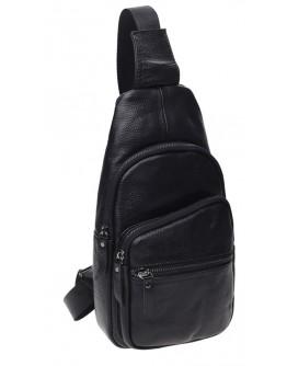 Мужской черный слинг кожаный Keizer K11037-black