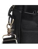 Фотография Черная кожаная сумка Borsa Leather K11118-black