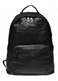 Черный кожаный рюкзак Keizer K111683-black