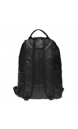 Мужской кожаный черный вместительный рюкзак Tarwa GA-7340-3md