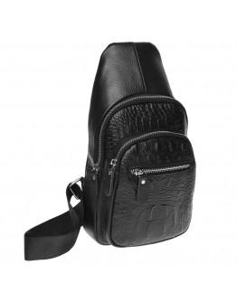 Черный кожаный слинг мужской K1142-black