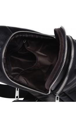 Кожаный рюкзак слинг на одну шлейку 74022A