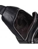 Фотография Кожаный рюкзак - слинг на плечо Keizer K1156-black