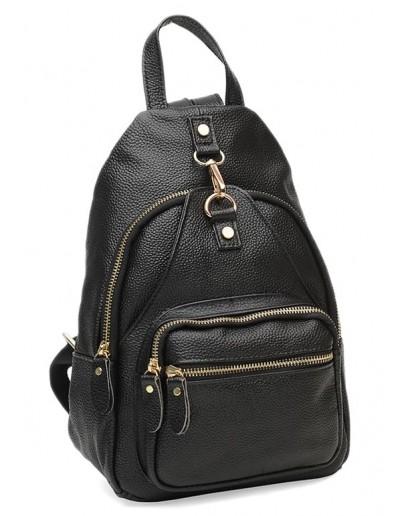 Фотография Черный кожаный женский рюкзак Borsa Leather K1162-black