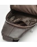 Фотография Мужской коричневый кожаный рюкзак - слинг Keizer K1168-brown