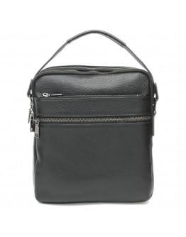 Черная кожаная сумка - барсетка Keizer K117622-3-black