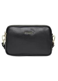 Женская черная сумка на плечо-клатч Borsa Leather K11906-black