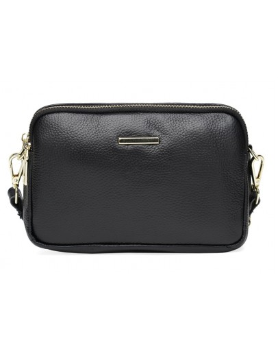 Фотография Женская черная сумка на плечо-клатч Borsa Leather K11906-black