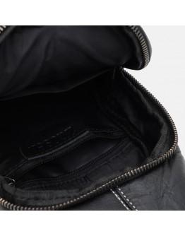 Слинг черный мужской кожаный Keizer K11930bl-black