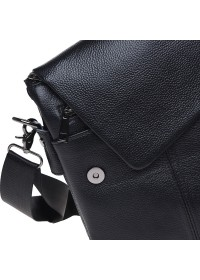 Черная кожаная вместительная сумка Keizer K12055-black