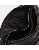 Фотография Черная сумка кожаная на плечо Borsa Leather K12056-black