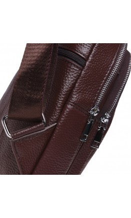 Коричневый кожаный слинг Keizer K12096-brown