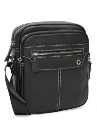 Черная кожаная сумка на плечо Borsa Leather K12221-black