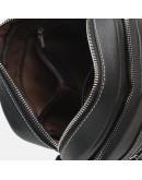 Фотография Черная кожаная сумка на плечо Borsa Leather K12221-black