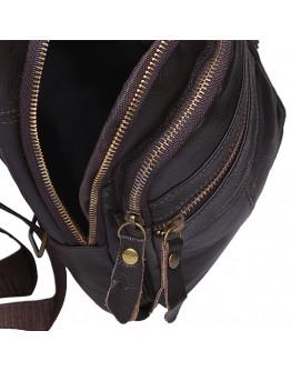Коричневый мужской кожаный слинг Keizer K13035-brown